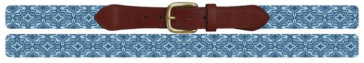 Blue Ares Needlepoint Belt