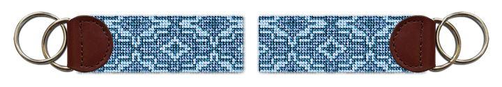 Blue Ares Needlepoint Key Fob