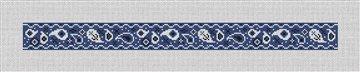 Blue Bandana Dog Collar Needlepoint Canvas