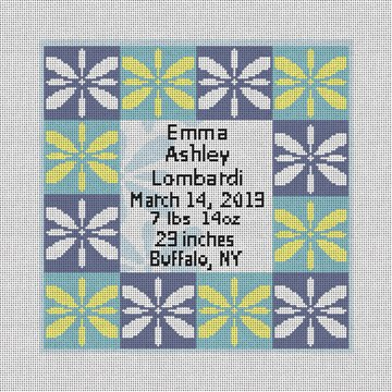 Blue Coventry Needlepoint Baby Pillow Canvas