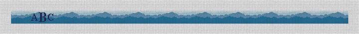Blue Ridge Mountains Needlepoint Belt Canvas