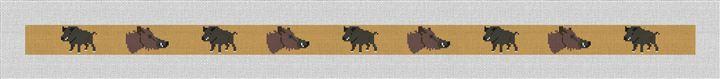 Boar Hunting Needlepoint Belt Canvas