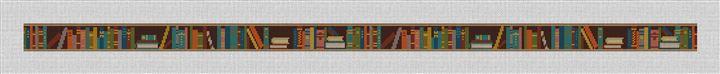 Bookshelf Needlepoint Belt Canvas