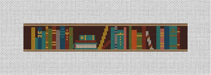 Bookshelf Needlepoint Key Fob Canvas