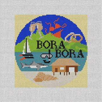 Bora Bora Needlepoint Ornament Canvas