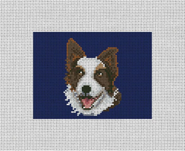 Border Collie Needlepoint Card Wallet Canvas
