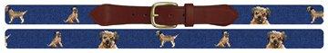 Border Terrier Needlepoint Belt