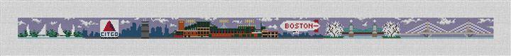 Boston Landscape Needlepoint Belt Canvas