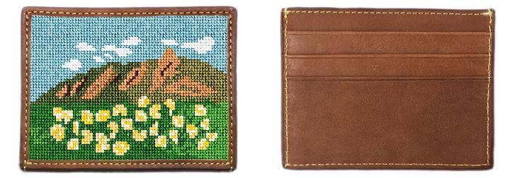 Boulder Flat Irons Needlepoint Card Wallet