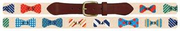 Bow Tie Needlepoint Belt