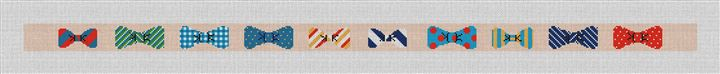 Bow Ties Belt Needlepoint Canvas