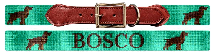 Boykin Spaniel Needlepoint Dog Collar