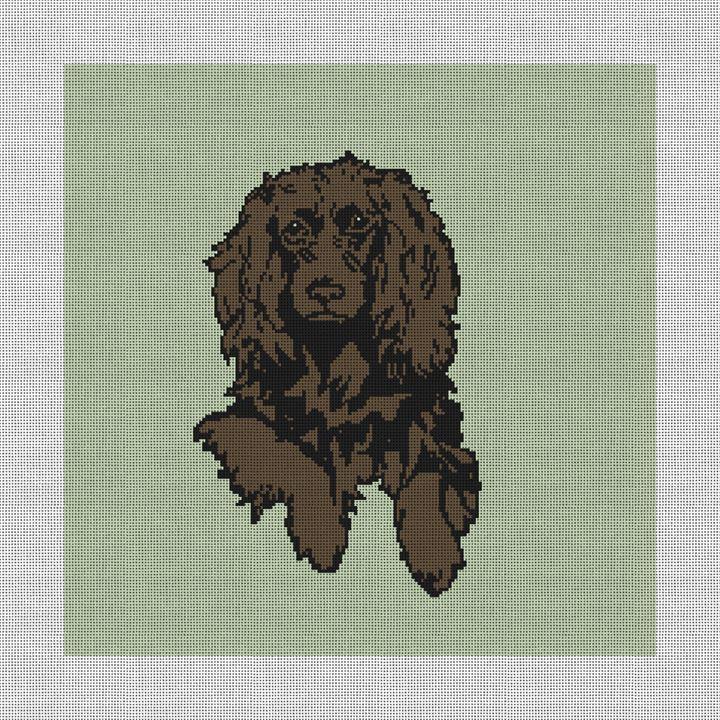 Boykin Spaniel Needlepoint Pillow Canvas