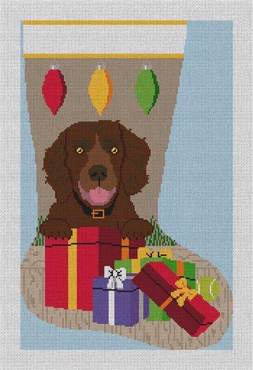 Boykin Spaniel Stocking Needlepoint Canvas