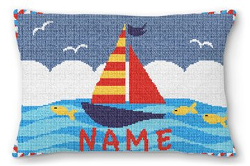 Boys Personalized Sailboat Pillow