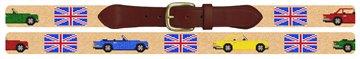 British Triumph Cars Needlepoint Belt