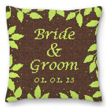Brown Telluride Personalized Ring Bearer Pillow