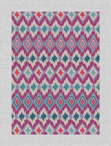 Buri Ikat Womens Wallet Needlepoint Canvas
