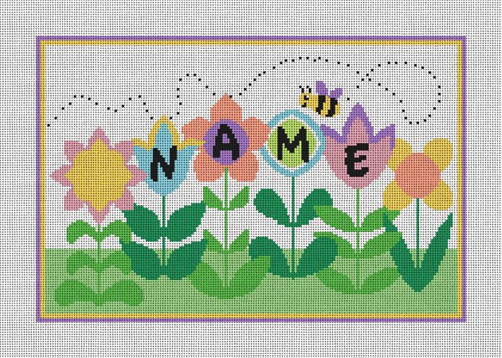 Busy Bee Personalized Needlepoint Canvas