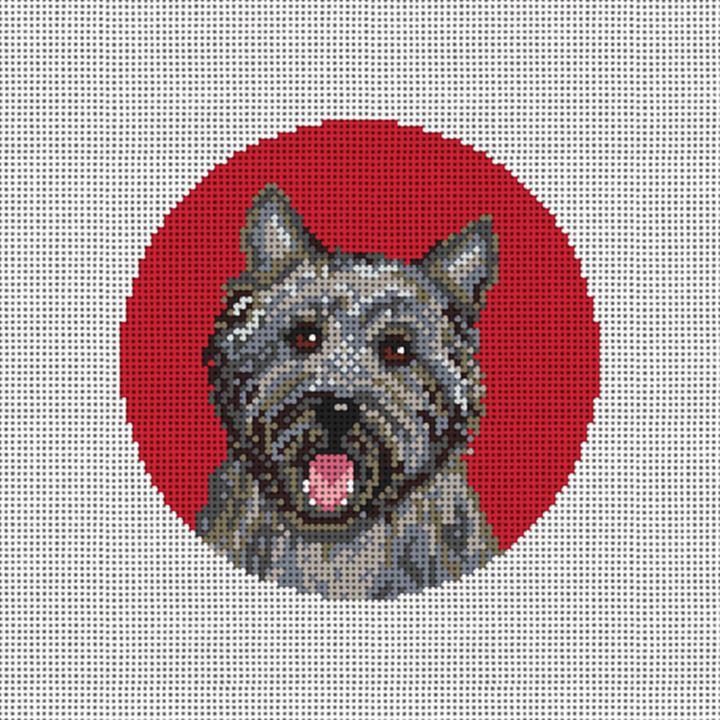 Cairn Terrier Needlepoint Ornament Canvas