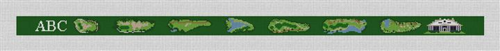Caledonia Golf Needlepoint Belt Canvas
