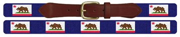California Flag Needlepoint Belt