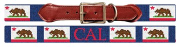 California Flag Needlepoint Dog Collar