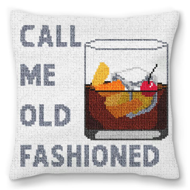 Call Me Old Fashioned Needlepoint Pillow