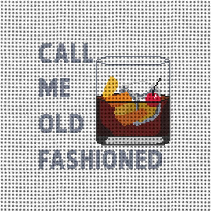 Call Me Old Fashioned Needlepoint Pillow Canvas