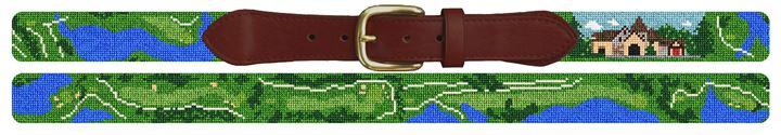 Capital City Club Golf Course Needlepoint Belt