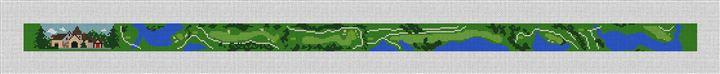 Capital City Club Golf Needlepoint Belt Canvas
