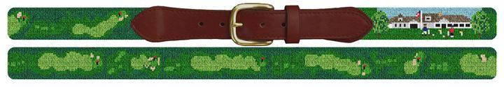 Captains Golf Course Needlepoint Belt