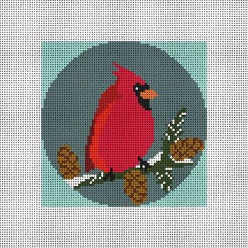 Cardinal Needlepoint Ornament Canvas