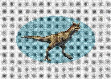 Carnotaurus Needlepoint Ornament Canvas