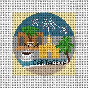 Cartagena Needlepoint Ornament Canvas