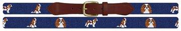 Cavalier King Charles Needlepoint Belt