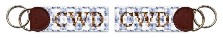 Checkerboard Needlepoint Key Fob
