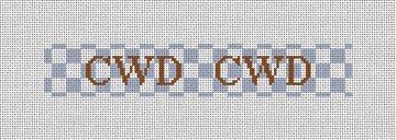 Checkerboard Needlepoint Key Fob Canvas