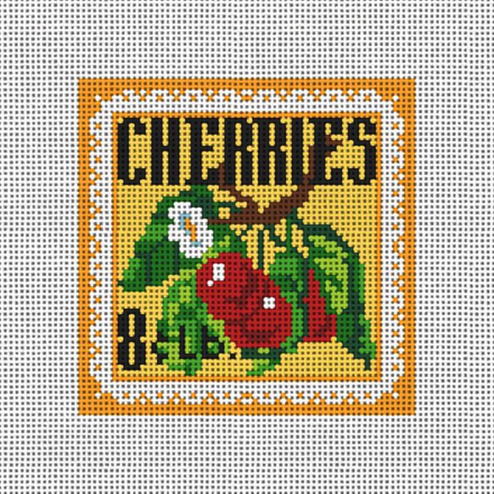 Cheery Cherries Needlepoint Canvas