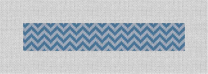 Chevron Needlepoint Key Fob Canvas
