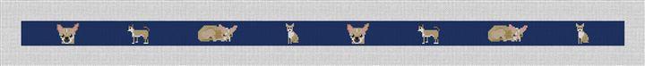 Chihuahua Needlepoint Belt Canvas