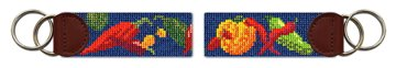 Chili Peppers Needlepoint Key Fob
