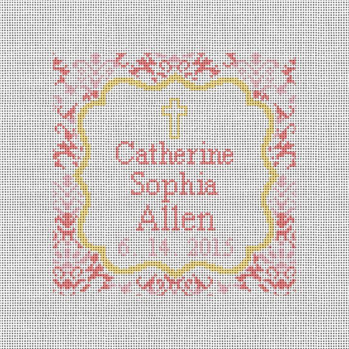 Christening Love Needlepoint Pillow Canvas