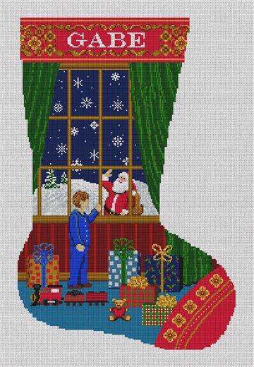 Christmas Dreams Stocking Needlepoint Canvas