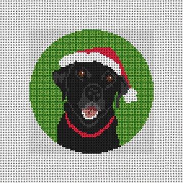 Christmas Lab Needlepoint Ornament Canvas