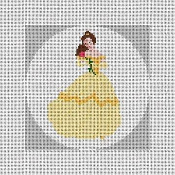 Christmas Princess Needlepoint Ornament Canvas