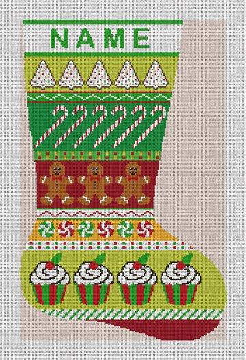 Christmas Treats Needlepoint Stocking Canvas