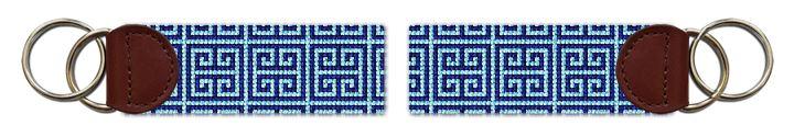 Classic Geometry Needlepoint Key Fob