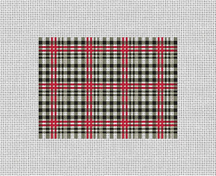 Classic Plaid Needlepoint Card Wallet Canvas