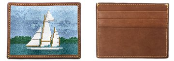 Classic Sailing Needlepoint Card Wallet